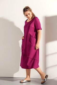 6be319fc50ba7a Kleid aus natürlich weichem Bio-Baumwolljersey. Lange Form in A-Line mit  großzügigen