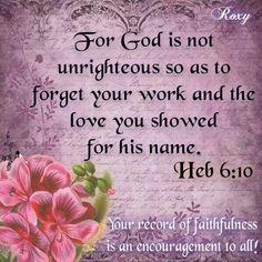 Heb. 6:10