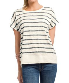Another great find on #zulily! Gray Lifeboat Linen-Blend Tee #zulilyfinds