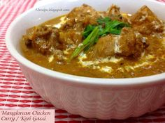 An authentic Mangolrean coastal style chicken curry with the flavors of coconut, tamarind and few...