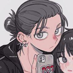 #icon #aot #metadinha Cute Anime Profile Pictures, Matching Profile Pictures, Cute Anime Pics, Cute Anime Chibi, Kawaii Anime, Anime Couples Drawings, Cute Anime Couples, Friend Anime, Anime Best Friends