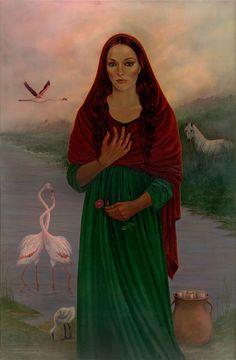 Cheryl Yambrach Rose pendant - Magdalene de la Mer