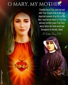 Blessed Mother Mary, Divine Mother, Holy Mary Prayer, St Faustina Kowalska, Miracle Prayer, Mama Mary, Strong Faith, Gods Timing, Divine Mercy