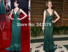 Evan Rachel Wood In Elie Saab Couture - Vanity Fair Oscar Party 2014 - Red Carpet Fashion Awards Green Evening Gowns, Cheap Evening Dresses, Nice Dresses, Evan Rachel Wood, Elie Saab Couture, Embellished Gown, Celebrity Red Carpet, Celebrity Style, Vanity Fair Oscar Party