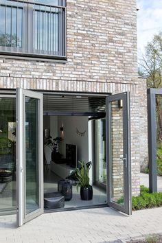 Shutters, Garage Doors, Loft, House Design, Windows, Living Room, Mirror, Outdoor Decor, Garden