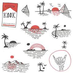 Sunset Kook Art Print