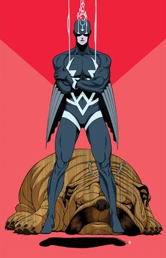 Inhumans - Black Bolt and Lockjaw by Tradd Moore, colours by Heather Moore * Marvel Comics Superheroes, Marvel Vs, Marvel Heroes, Marvel Comic Character, Marvel Characters, Tradd Moore, Black Bolt Marvel, Spiderman, Batman