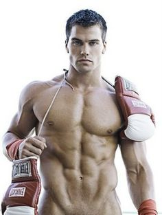 LA model Jed Hill - abs, pecs and arms - cut and ripped!