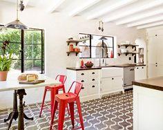 White Brick Mediterranean - mediterranean - kitchen - portland - Jessica Helgerson Interior Design
