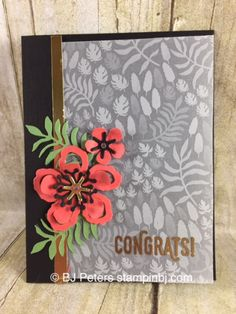 Botanical Blooms, Botanical Garden designer vellum, Stampin' Up!, BJ Peters, Sale-a-Bration, Occasions, Perfect Pairings