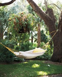 How to make a hammock from a drop cloth.  Martha Stewart.