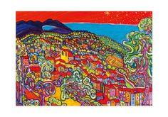 Cote d'Azur Ramatuelle so very French artprint by by lesARTicles