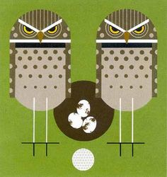 Charley Harper designs.. check to see if there is a canvas for needlepoint