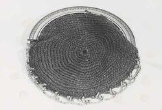 1820, gehäkeltes Täschchen mit Metallrahmen, Niederlande