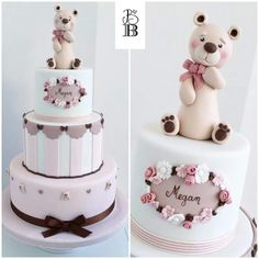 Baby shower for girl cake