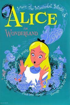Disneyland Disneyland Alice in Wonderland Poster 1958