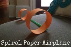 """Pinner said """"Spiral Paper Airplane- idea for awana kiddos based on the theme that week.  """"take flight"""", """"flying solo"""""""