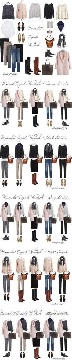 Minimalist Capsule Wardrobe - Winter 2015 by bluehydrangea on Polyvore featuring мода, Vince, Vince Camuto, Madewell, Just Female, Carolina Amato, Daniel Wellington, Gap, Cole Haan and J.Crew #Mylifemystyle