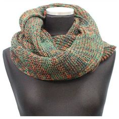 La Fiorentina Green Marled Yarn Snood ($20) ❤ liked on Polyvore featuring accessories, scarves, green, infinity scarves, infinity shawl, snood scarves, lightweight scarves and green infinity scarves