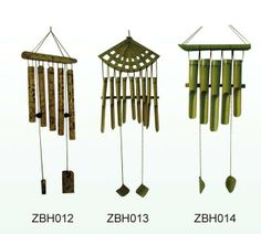 WIND CHIMES | Bamboo wind chimes hang by window or on proch to enjoy the sound of ...