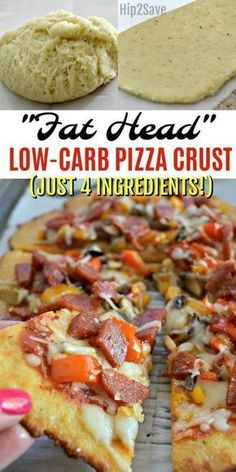 """Low Carb Recipes """"Fat Head"""" Pizza Crust Recipe (Finally a Low Carb Pizza I LOVE!) – - Try """"Fat Head"""" pizza for a low carb pizza crust option that tastes amazing and is simple to make using just four main ingredients! Low Carb Paleo, Vegan Keto, Keto Fat, Low Fat Low Carb, 7 Keto, Paleo Food, Vegetarian Recipes, Low Carb Vegitarian Recipes, Simple Low Carb Meals"""