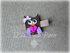 Mini Owl Ribbon Hair Clip