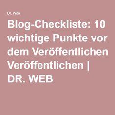 Blog-Checkliste: 10 wichtige Punkte vor dem Veröffentlichen | DR. WEB