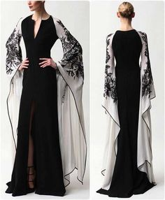 Evening Dresses 2017 New Design A-line White And Black V-Neck Sleeveless Backless Tea-length Sashes Party Eveing Dress Prom Dresses 2017 High Quality Dress Fuchsi China Dress Up Plain Dres Cheap Dresses Georgette Online Beautiful Gowns, Beautiful Outfits, Evening Dresses, Formal Dresses, Elegant Evening Gowns, Mode Hijab, Mode Inspiration, Dream Dress, Pretty Dresses