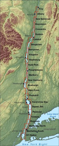Hudson River Map. We love sailing along the Hudson River Valley. www.traveldynamics.com