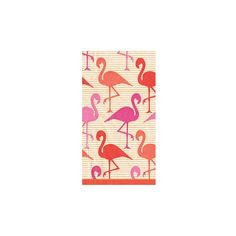 Caspari Flamingo Strut Guest Towel ($20) ❤ liked on Polyvore featuring home, bed & bath, bath, bath towels, frontgate and patterned bath towels