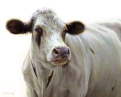 Sold | Jannigje the Cow, oil/panel 8 x 10 inch (20 x 25 cm) © 2012 Klimas