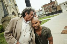 Mr Wednesday and Shadow Moon  American Gods