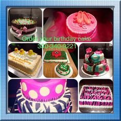 Cakes I've made. Contact me to order.