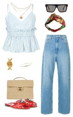 """Untitled #577"" by mechi13 ❤ liked on Polyvore featuring Victoria Beckham, Étoile Isabel Marant, Calvin Klein, Chanel, Dolce&Gabbana, Gucci and Pascale Monvoisin"