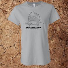 Women's Dimetrodon T-Shirt for $15 - Printed on 100% cotton Bella t-shirts.  Custom options available at www.myfavoritedinosaur.com