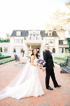 A Whimsical, Purple Wedding at the Ashford Estate in Allentown, New Jersey