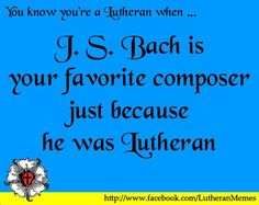 Bach rocks. no doubt about it. #lutheran #humor #bach