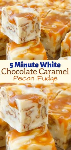 White Chocolate Caramel Fudge is a quick and easy 5 Minute Fudge Recipe that is - Chocolate Recipes White Chocolate Fudge, Chocolate Chips, Chocolate Fudge Recipes, Vanilla Fudge Recipes, Caramel Recipes, Chocolate Fondue, Fondant Au Caramel, Cake Batter Fudge, Fudge Ingredients