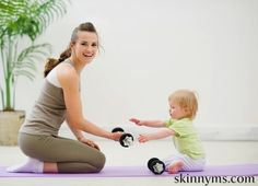 Set a great example for your kids! Here are 10 Ideas for Moms to help you make time for work-outs :)  #skinnyms #mom #fitness