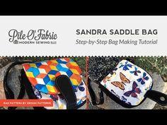 Sandra Saddle Bag pattern and video – Sew Modern Bags