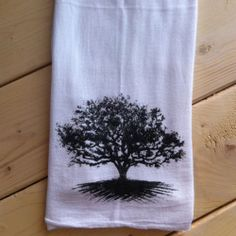 These 100% cotton flour sack towels are hand printed.  www.163designs.com