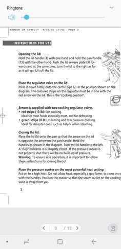 Pressure cooker regulator instructions