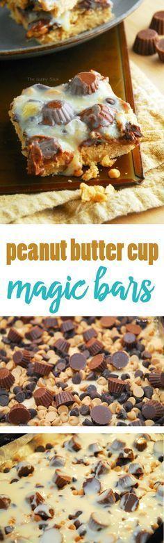 Peanut Butter Cup Magic Bars