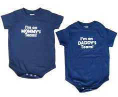 I'm on Daddy's Team Baby Navy Onesie – Baby 6