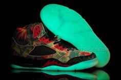Jordan 5 Glow in the Dark With Maple Leaf Black Red. Jordan 4Air Jordan 5  RetroNike ... 93338a465