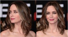 Gorgeous Shoulder-Length Hairstyles: Emily Blunt: Sweet & Subdued