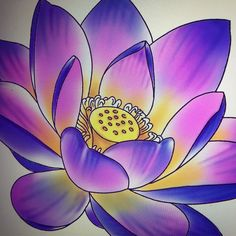 Drawing a lotus for a client. Lotus Tattoo Design, Tattoo Designs, Lotus Flower, Flower Art, Awesome Art, Cool Art, Oriental, Desenho Tattoo, Color Pencil Art