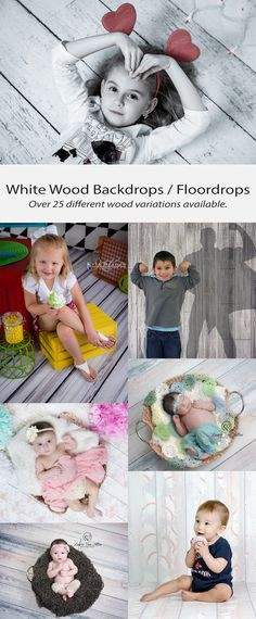 White Wood Backdrops / Floordrops for Photography
