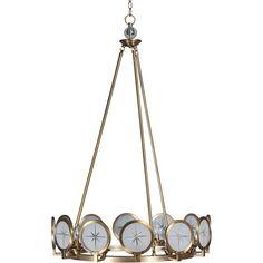 Cecil Twelve Light Chandelier in Antique Brass
