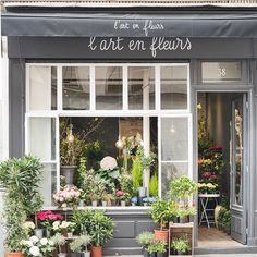 L'Art en Fleurs, a tiny, charming flower shop on rue de Varenne. More Paris @photosbydcp and @georgiannalane